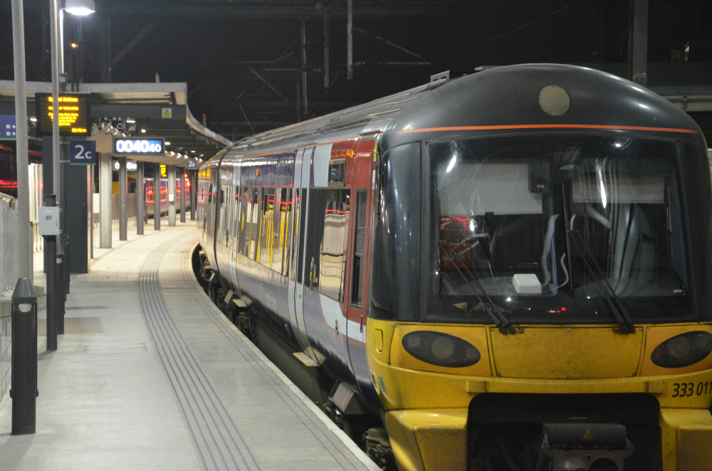 Train in a station